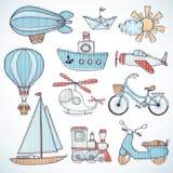 设计例证集合运输向量您 免版税库存图片