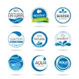 水设计元素。水象 库存照片
