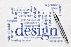 设计元素和规则词云彩 免版税库存照片