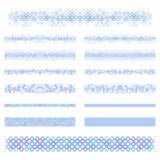 设计元素-蓝色分切器线集合 免版税库存照片