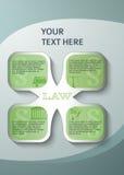 设计元素页小册子样式infographics法律 免版税库存照片