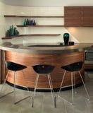 设计典雅的内部厨房豪华 库存图片