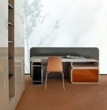 设计典雅的内部豪华空间年轻人 免版税库存照片