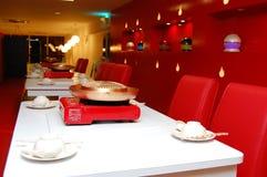 设计典雅的内部餐馆汽船 免版税库存图片