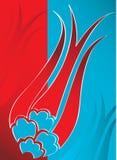 设计典雅的无背长椅传统郁金香土耳其 免版税库存照片