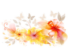 设计典雅的花向量 免版税库存照片