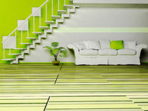 设计内部居住的现代空间 皇族释放例证