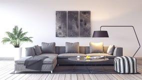 设计内部居住的现代空间 免版税图库摄影