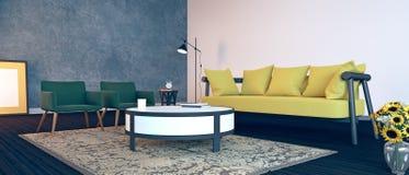 设计内部居住的现代空间 免版税库存图片