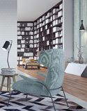 设计内部居住的现代空间 向量例证