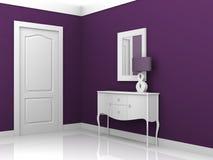 设计内部紫罗兰 免版税图库摄影