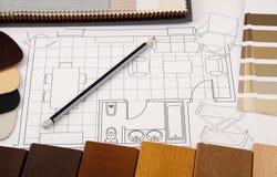 设计内部计划 库存图片