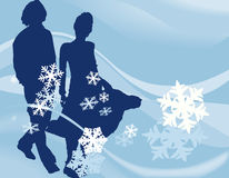 设计冬天 库存图片