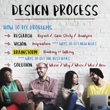 设计创造性的处理解答概念 库存图片