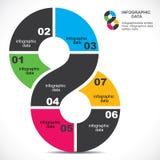 创造性infographic 图库摄影