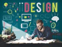 设计创造性的计划客观目的想法概念 免版税库存图片