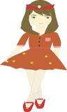 设计动画美丽的女孩 免版税库存照片