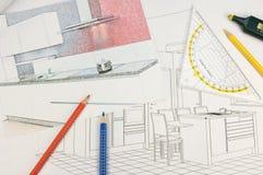 设计厨房 免版税库存照片