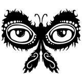 设计发光的飞蛾纹身花刺 免版税库存照片