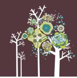 设计可爱的结构树 免版税库存照片