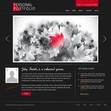 设计员摄影师模板网站 免版税库存照片