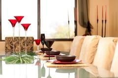 设计员餐位餐具 免版税库存图片