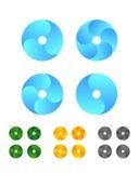 设计周期圆的商标元素 免版税库存照片