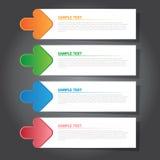 设计和创造性的工作的传染媒介例证现代横幅 免版税库存照片