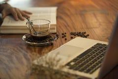 设计和广告的咖啡概念 库存照片