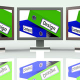 设计和Content Screen Show Company广告 免版税图库摄影