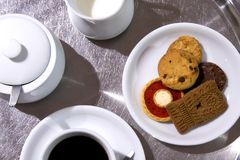 设计咖啡桌 免版税库存照片