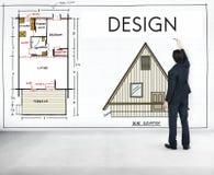 设计图表创造性的计划目的草稿概念 图库摄影