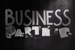 设计图表词商务伙伴 免版税库存图片