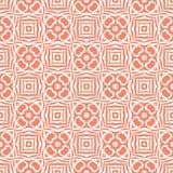 设计在白色基地的红橙色无缝的样式背景例证 向量例证