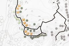 设计在站点分析计划的园艺师 库存照片