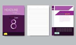 设计封面纸报告 抽象几何传染媒介模板 库存照片