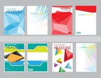 设计封面纸报告 抽象几何传染媒介模板 库存图片