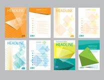 设计封面纸报告 抽象几何传染媒介模板 免版税库存照片