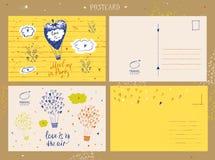 设计巡航旅行商标邮票  ai手拉的剪影  免版税库存照片