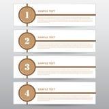 设计工作的,传染媒介例证模板横幅 免版税库存图片
