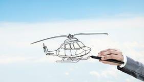 设计师凹道直升机 库存图片
