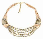 设计师多颜色珍珠项链看起来美丽 库存图片