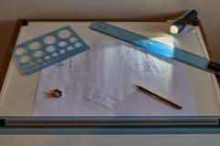 设计师工作站和元素 免版税图库摄影
