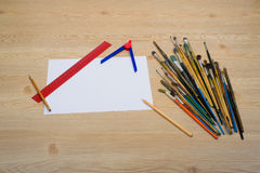 设计师的工作单位 免版税库存图片