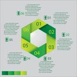设计干净的数字横幅模板/图表或网站布局 免版税库存照片