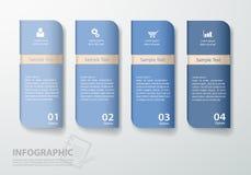 设计干净的模板4步 免版税库存照片