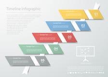 设计干净的模板5步 FOT企业概念 库存照片