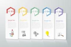 设计干净的模板Infographic 能为工作流,布局,图使用 免版税图库摄影