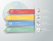 设计干净的模板Infographic 能为工作流,布局,图使用 皇族释放例证