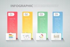 设计干净的模板Infographic 能为工作流,布局,图使用 免版税库存图片